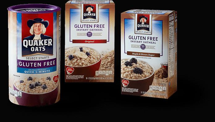 Quaker Oats Gluten Free Oatmeal  Product Hot Cereals