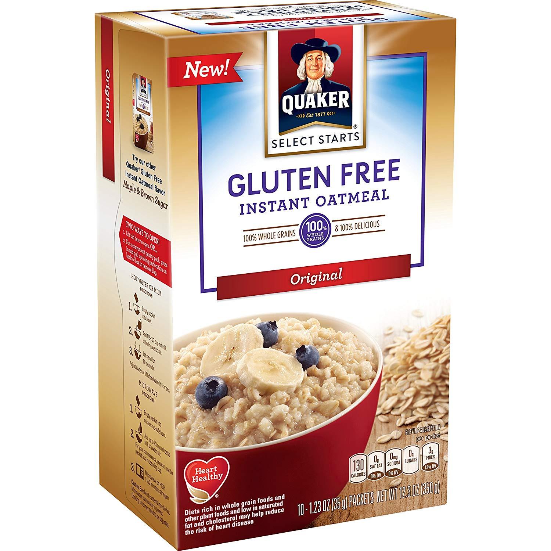Quaker Oats Gluten Free Oatmeal  quaker instant oatmeal original