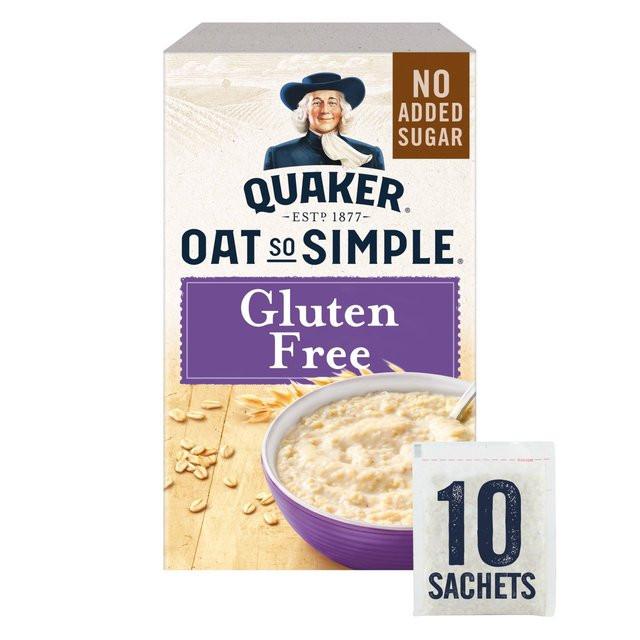 Quaker Oats Gluten Free Oatmeal  Quaker Oat So Simple Gluten Free Original Porridge 10 x