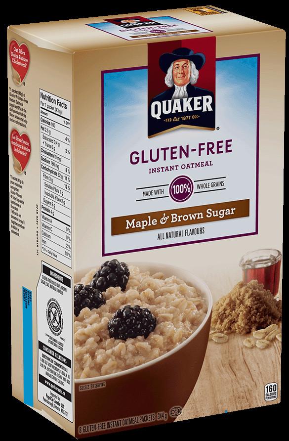 Quaker Oats Gluten Free Oatmeal  Quaker Oats Nutrition Facts Gluten