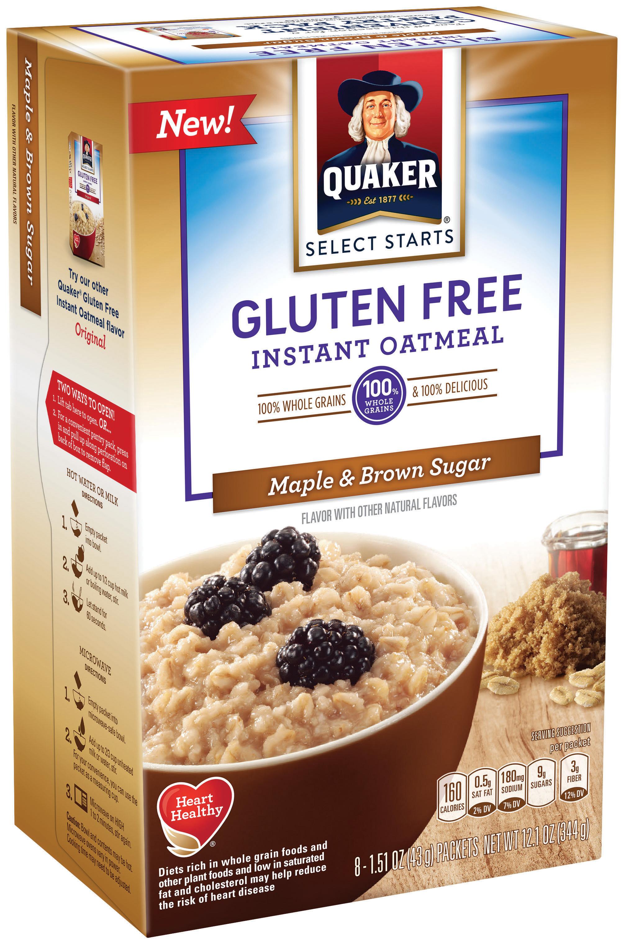 Quaker Oats Gluten Free Oatmeal  Holy Gruel Quaker's New Gluten Free Oats