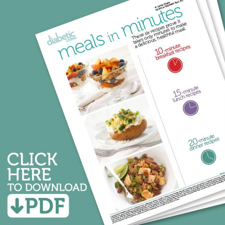 Quick And Easy Diabetic Recipes For One  1000 images about Quick & Healthy Meals on Pinterest