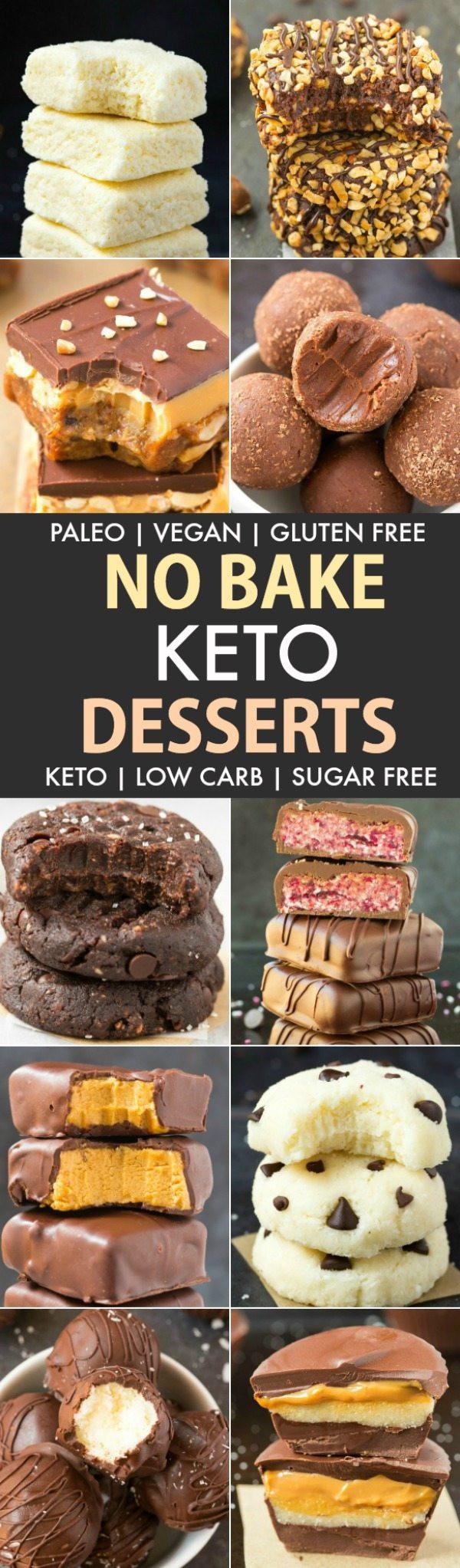Quick And Easy Keto Desserts  Easy No Bake Low Carb Keto Desserts Paleo Vegan