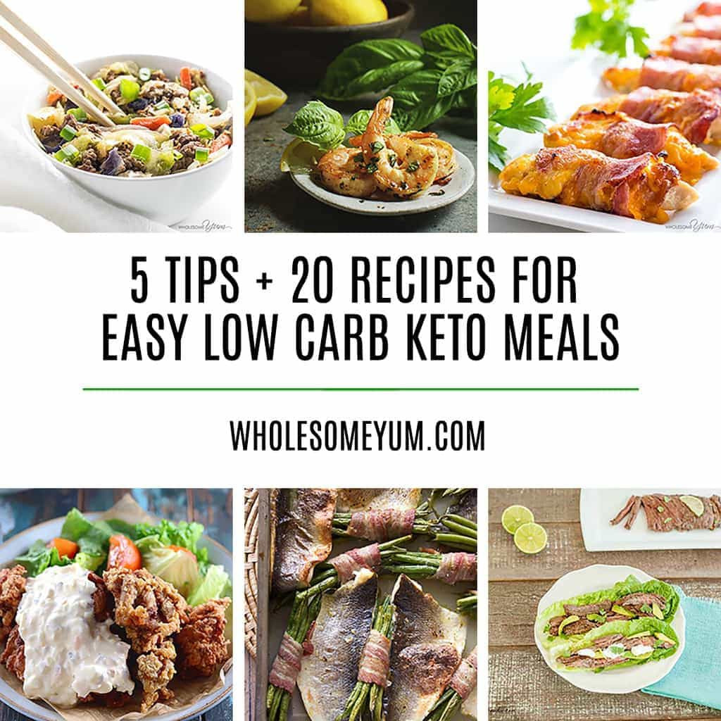 Quick And Easy Low Carb Recipes  20 Delicious Easy Low Carb Keto Meals – Recipes Ideas & Tips
