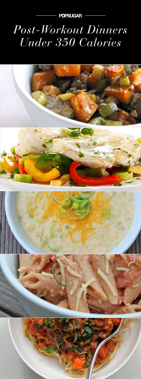 Quick Low Calorie Dinners  Perfect For Post Workout Quick Dinners at 350 Calories or