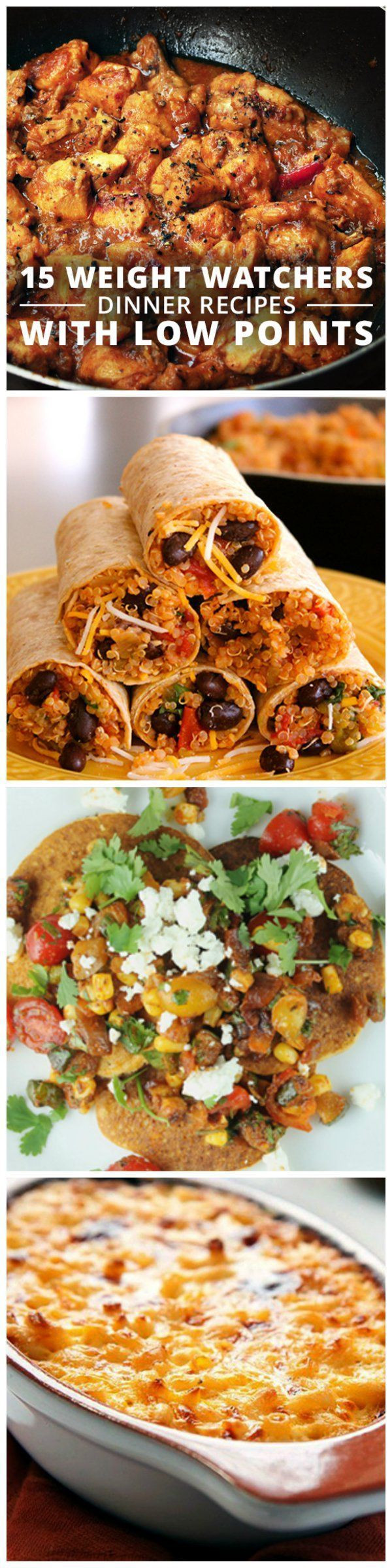 Quick Low Fat Dinners  15 Weight Watchers Dinner Recipes with Low Points