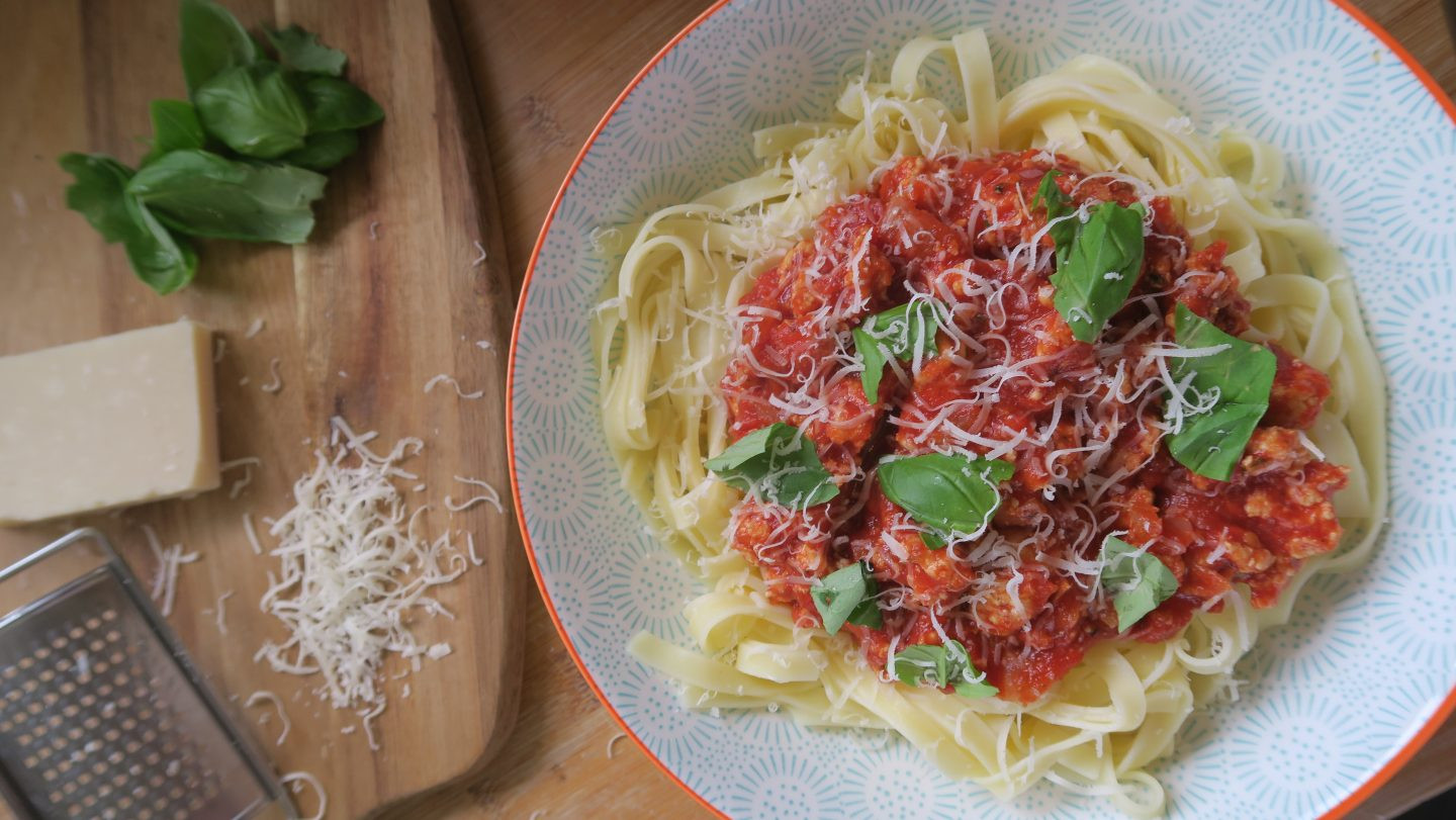 Quick Low Fat Dinners  Gluten free turkey bolognese a low fat high protein