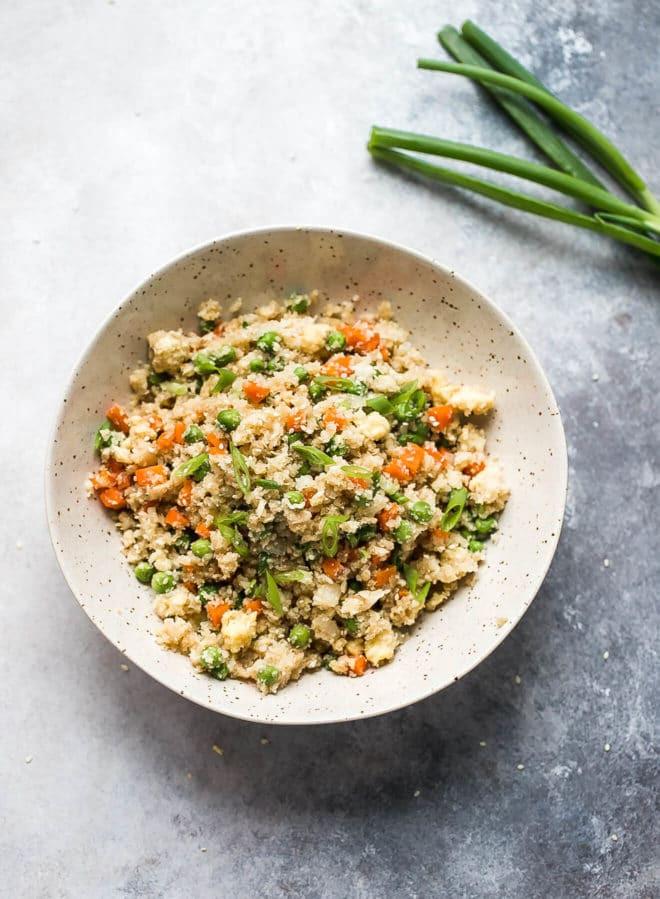 Quinoa Carbs Keto  Cauliflower Fried Rice Recipe Cooking LSL