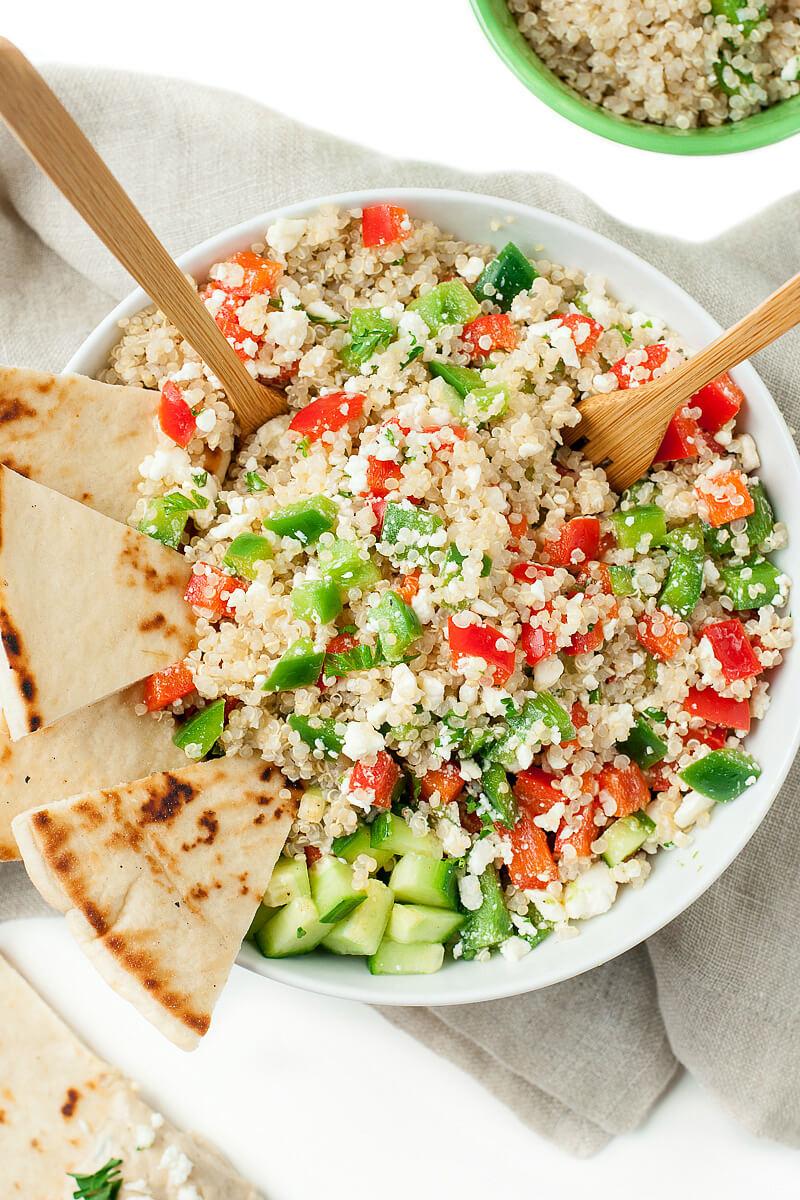 Quinoa Recipe Healthy  Greek Quinoa Bowls Peas And Crayons