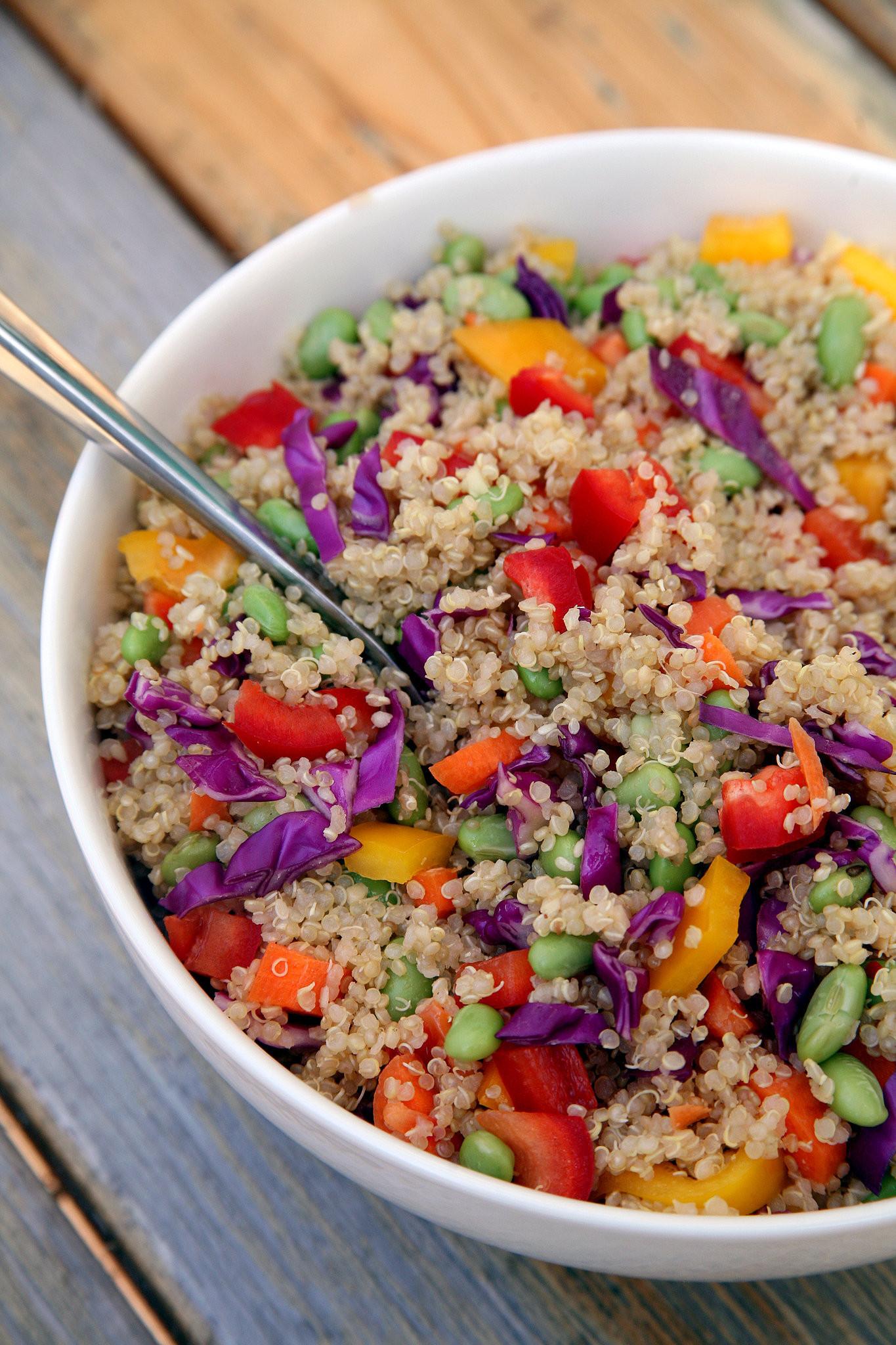 Quinoa Recipe Healthy  Sesame Ginger Quinoa Salad Vegan