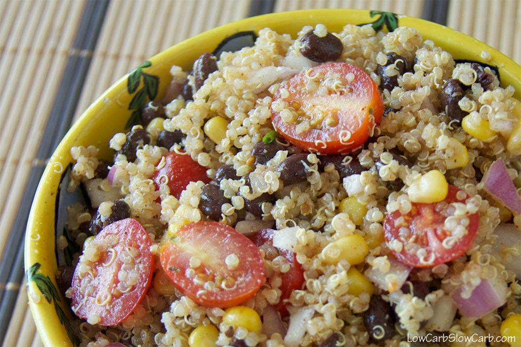 Quinoa Slow Carb  Quinoa black bean and corn salad Low Carb Slow Carb