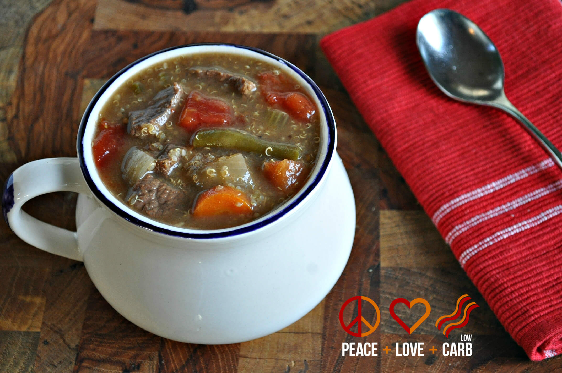 Quinoa Slow Carb  Ve able Beef Quinoa Soup Low Carb
