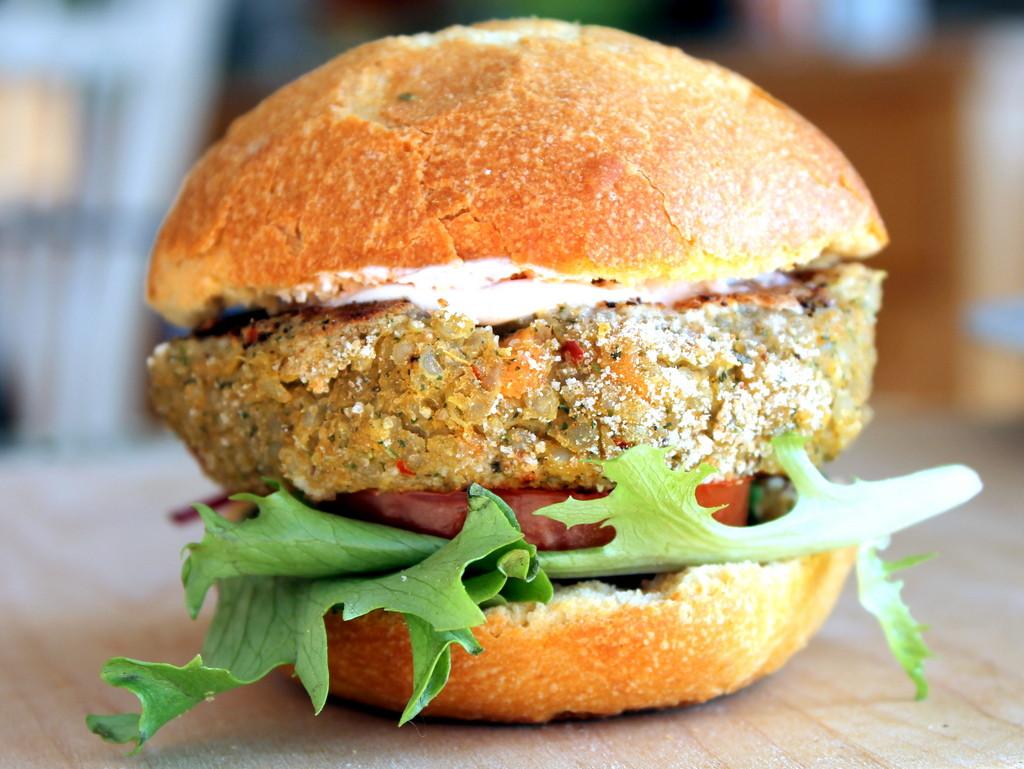 Quinoa Vegan Burger  Chickpea Sweet Potato Quinoa Burgers Get Healthy U