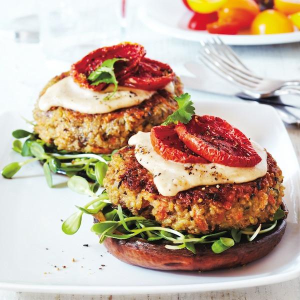 Quinoa Vegan Burger  Quinoa veggie burger recipe Chatelaine