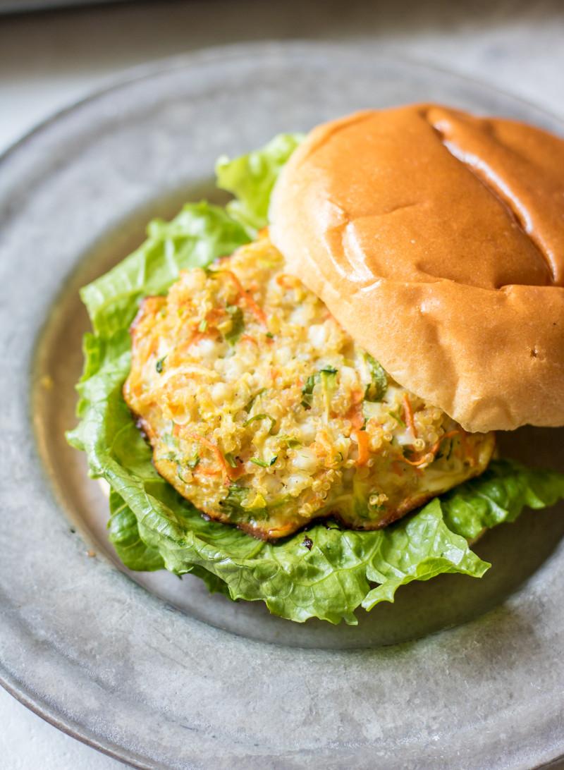 Quinoa Vegan Burger  Veggie Packed Quinioa Burgers Gluten Free and Meatless