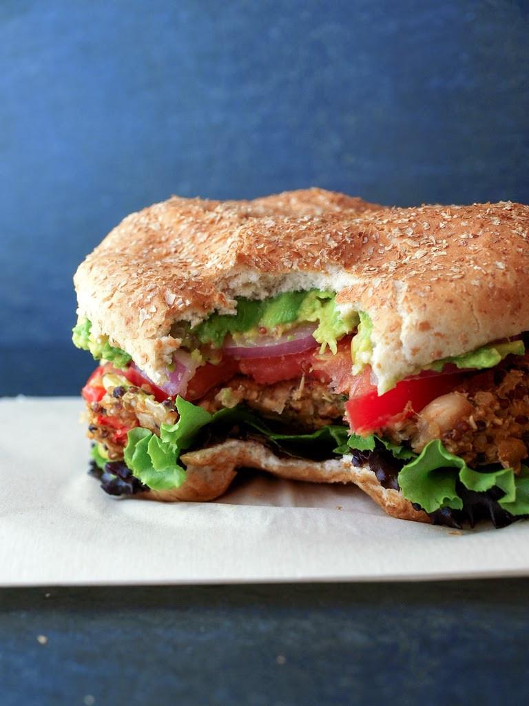 Quinoa Vegan Burger  QUINOA & WHITE BEAN VEGGIE BURGER THE SIMPLE VEGANISTA