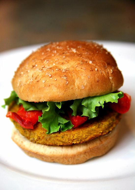 Quinoa Vegan Burger  Sunday Sweet Potato Chickpea and Quinoa Veggie Burger
