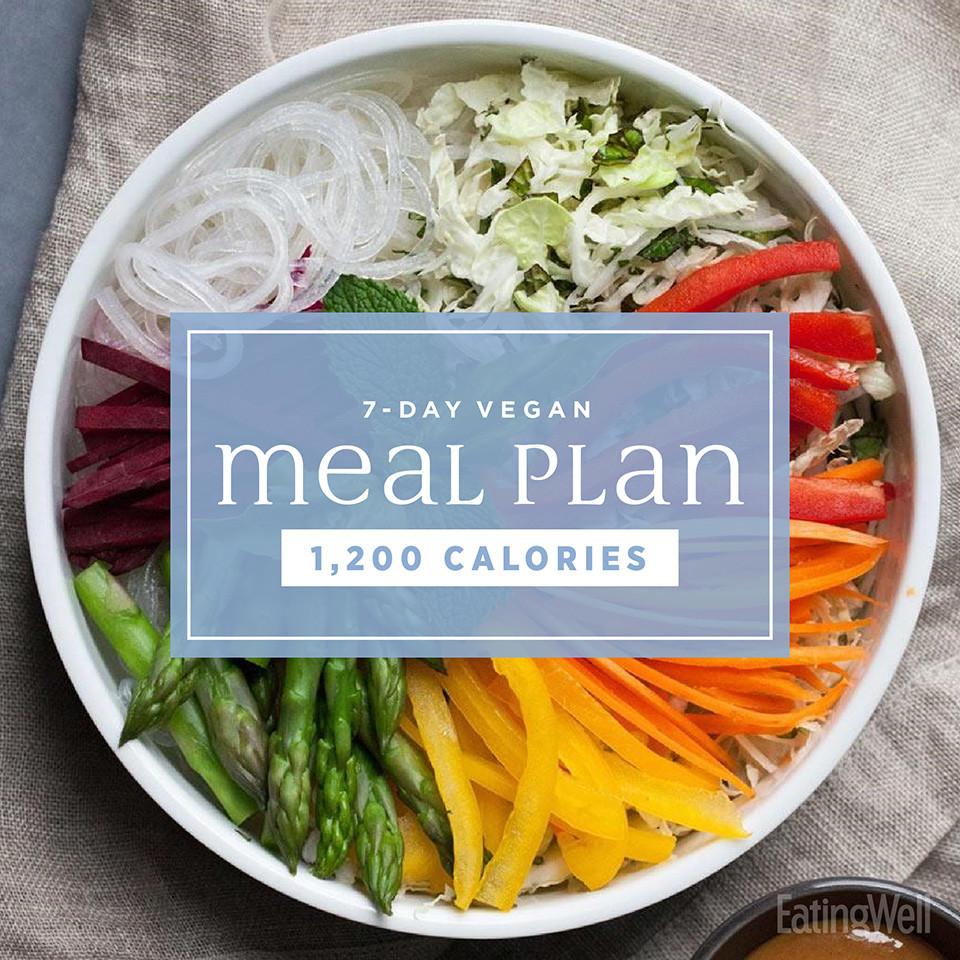 Raw Food Diet Weight Loss Per Week  7 Day Vegan Meal Plan 1 200 Calories EatingWell
