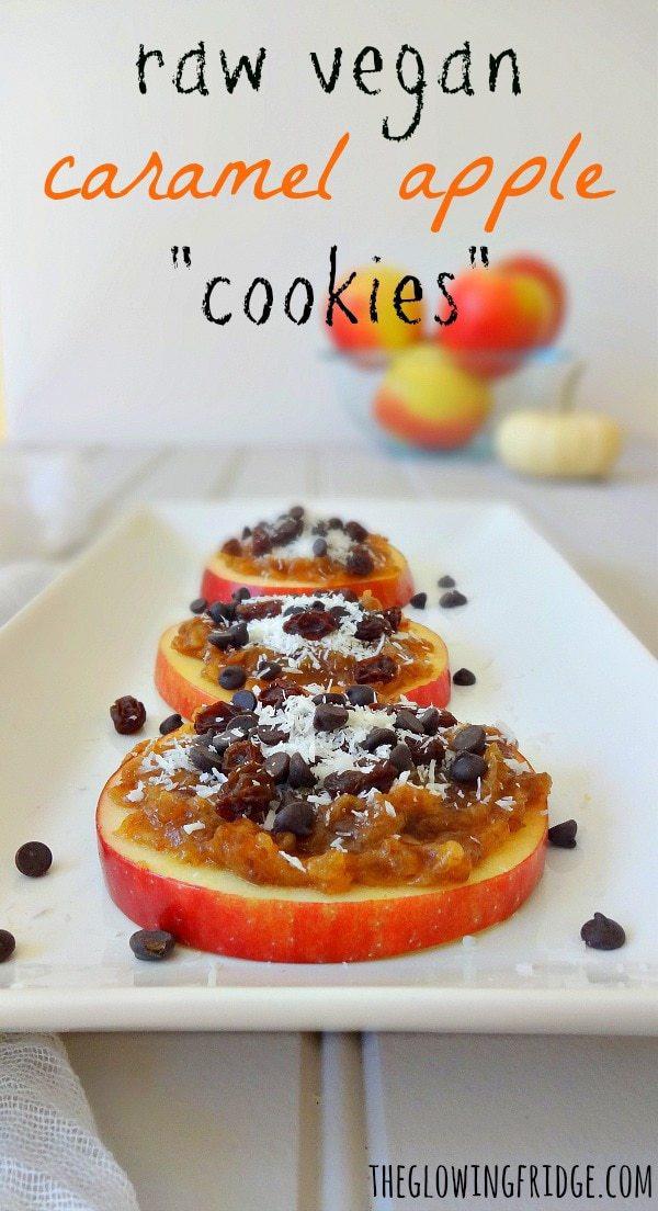 Raw Vegan Breakfast Recipes  Raw Vegan Caramel Apple Cookies The Glowing Fridge