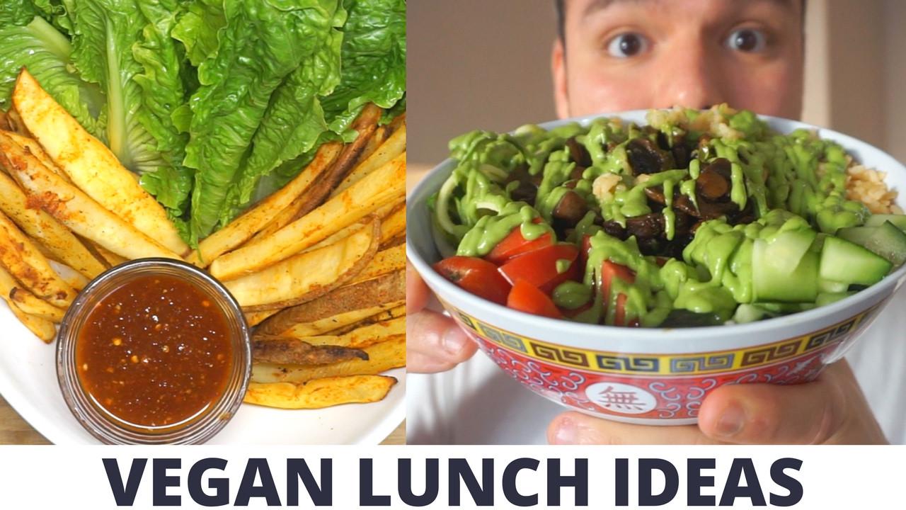 Raw Vegan Lunch Recipes  3 VEGAN LUNCH IDEAS