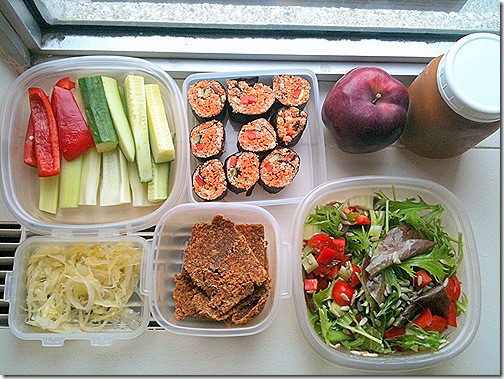Raw Vegan Lunch Recipes  Today's Lunchbox Raw Vegan Sushi by Faye of Raw Lawyer