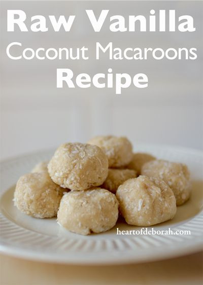 Raw Vegan Macaroons  Raw Vanilla Coconut Macaroons Recipe