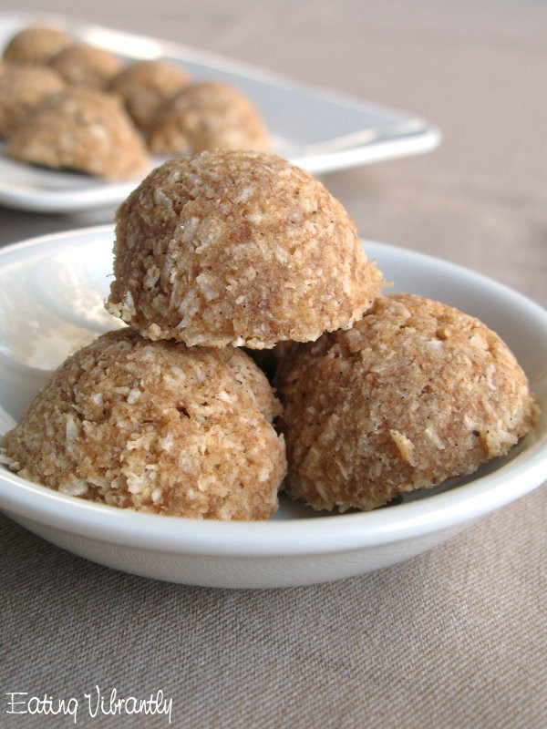 Raw Vegan Macaroons  Raw Date Coconut Macaroons Recipe Eating Vibrantly