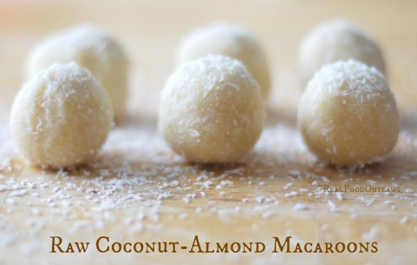 Raw Vegan Macaroons  Raw Coconut Almond Macaroons Real Food Outlaws