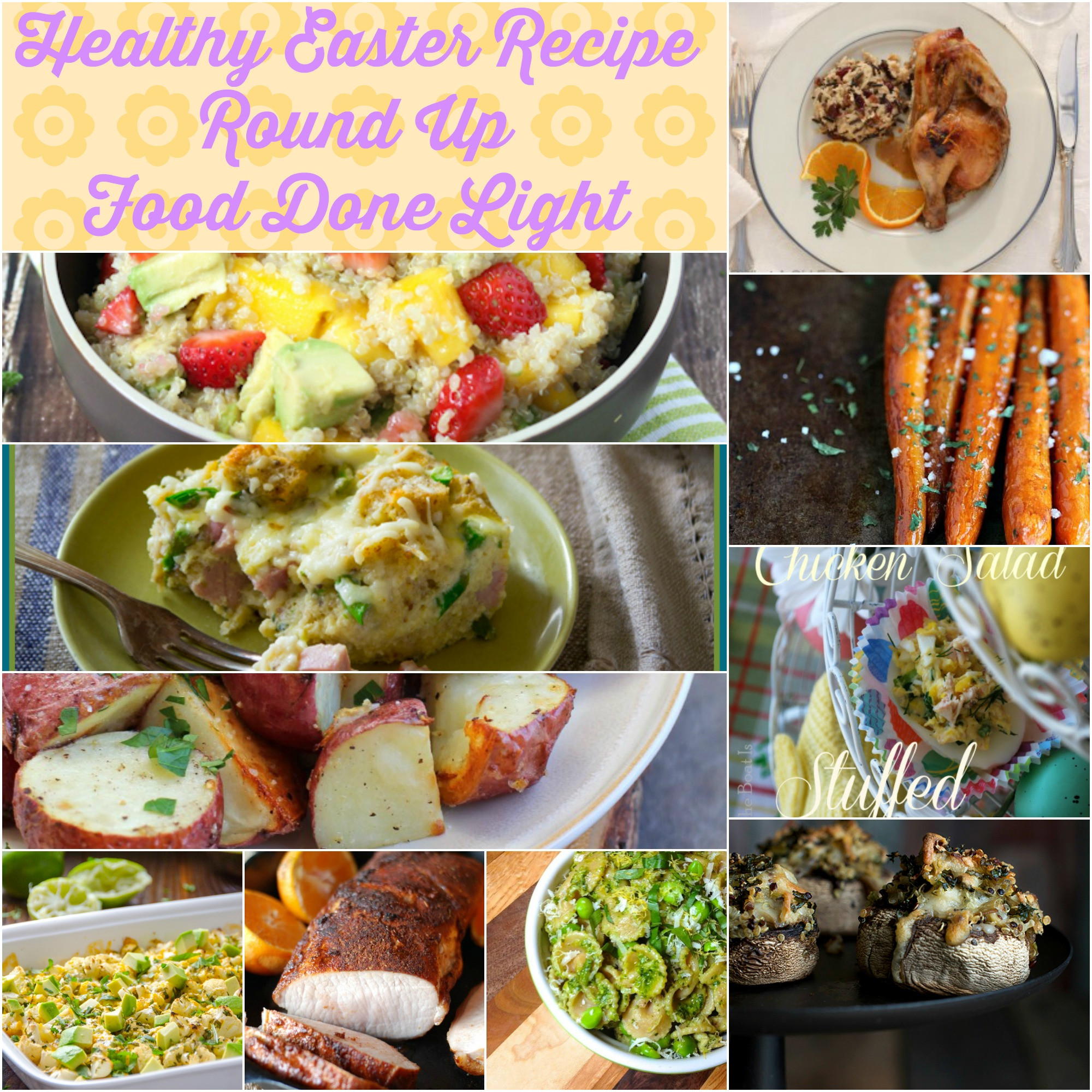 Receipes For Easter Dinner  Healthy Easter Brunch Recipe Round Up Food Done Light