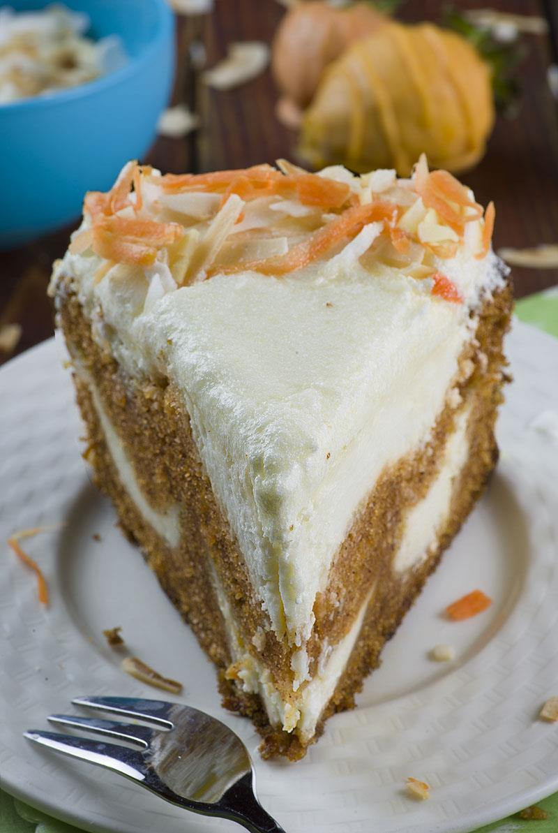 Recipe For Easter Desserts  Carrot Cake Cheesecake Easter version