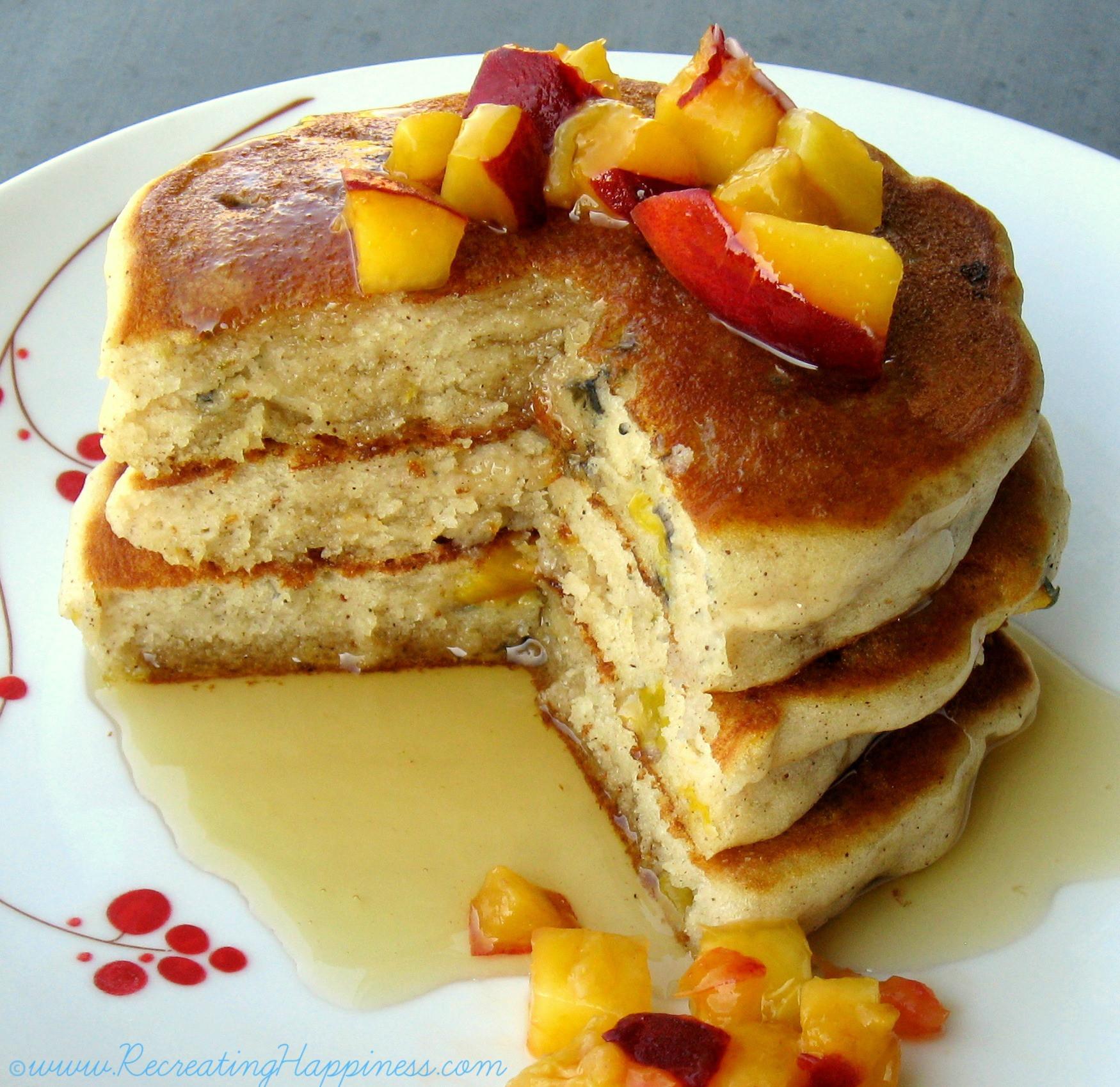 Recipes For Gluten Free Pancakes  Gluten Free Spiced Peach Pancakes Recipe