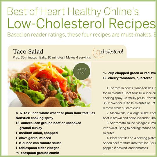 Recipes For Low Cholesterol Diets  Low Cholesterol Recipes Food