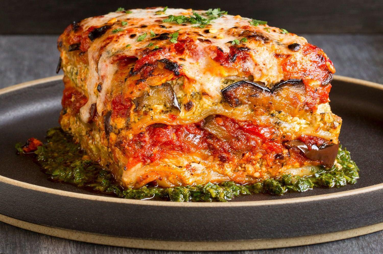 Recipes For Vegetarian Lasagna  Vegan Grilled Garden Ve able Lasagna With Puttanesca