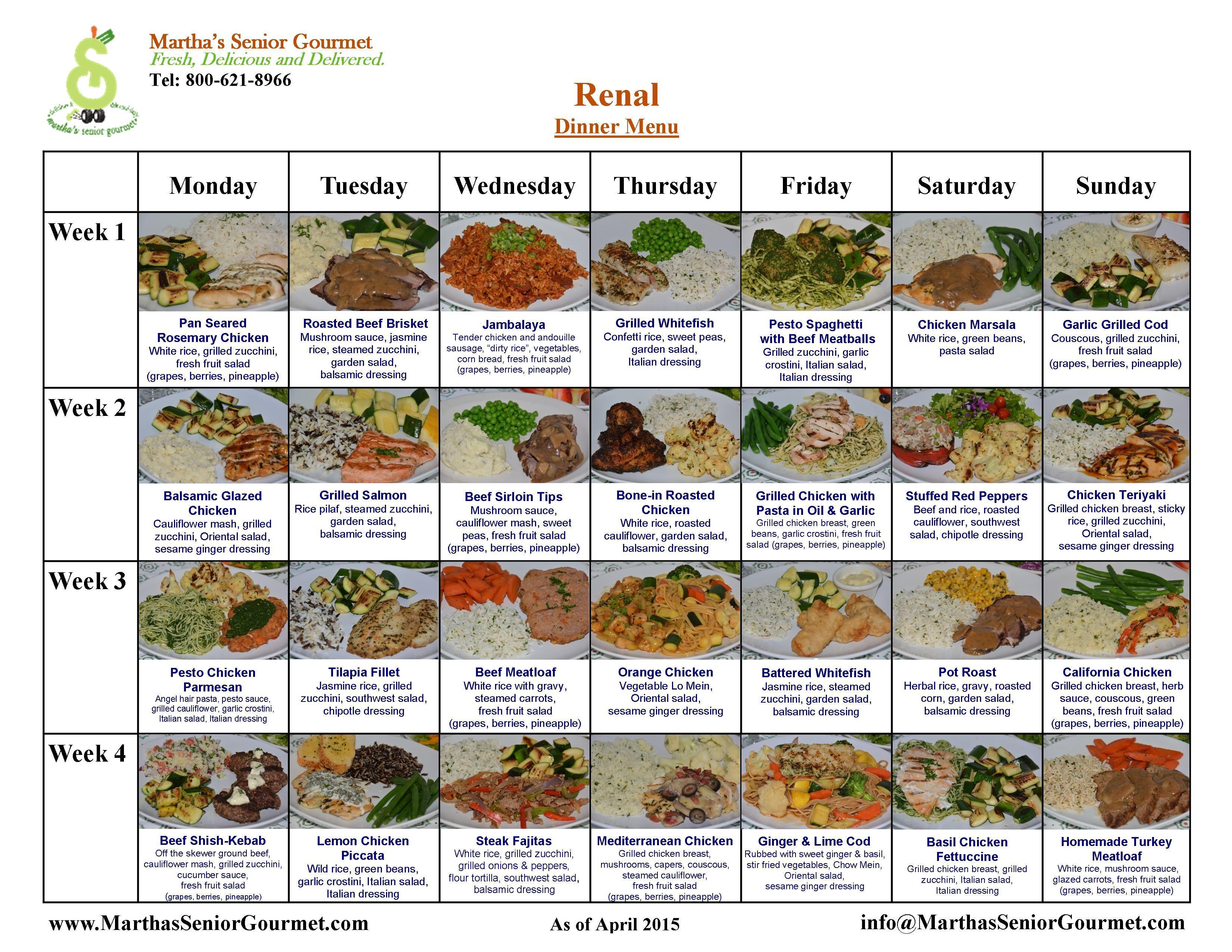 Renal Diabetic Diet Recipes  Renal Diet Menu