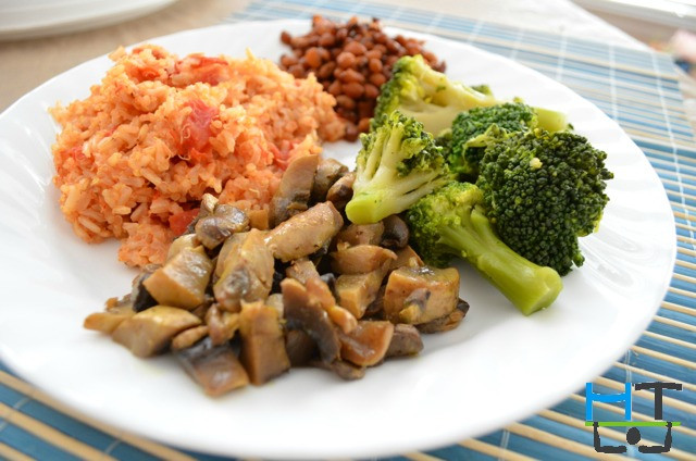 Rice And Beans Diet Weight Loss  Quinoa Brown Rice Tomato Perlow with Beans & Ve ables