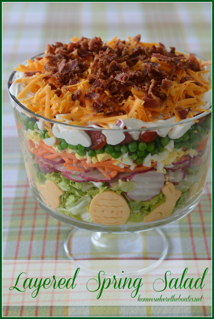 Salads For Easter  Layered Spring Salad for Easter – Home is Where the Boat Is