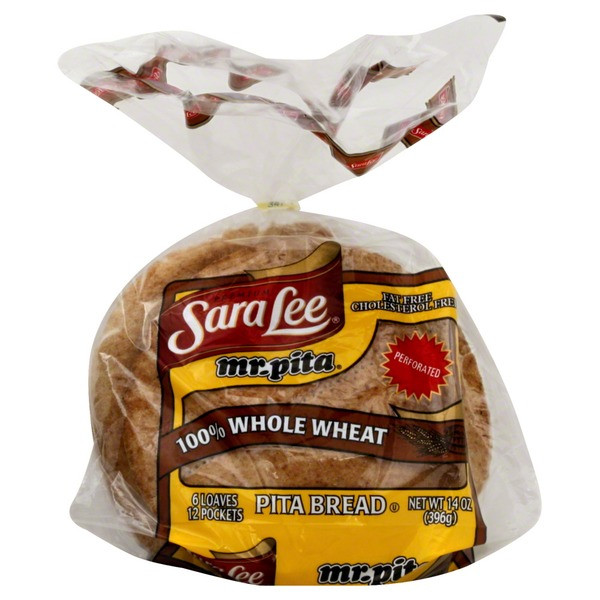 Sara Lee Gluten Free Bread  Sara Lee Mr Pita Whole Wheat Pita Bread 6 ct from