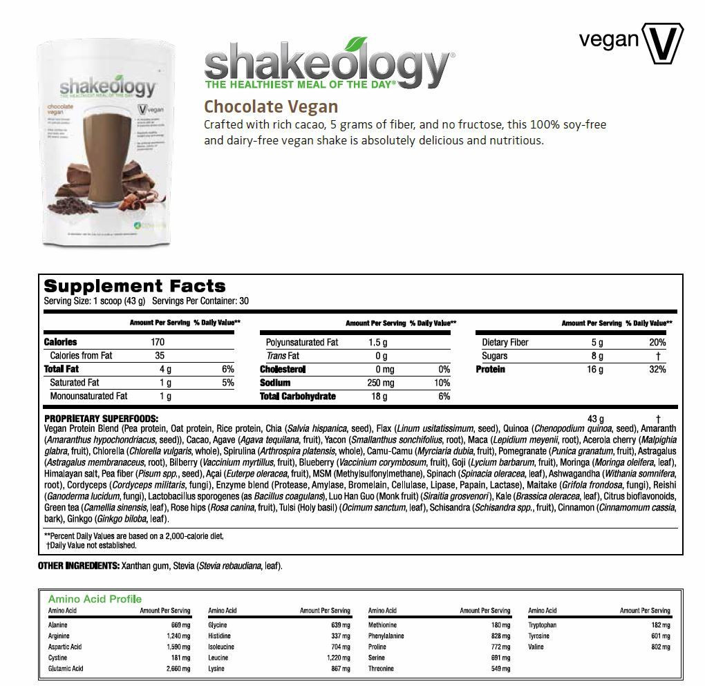 Shakeology Vegan Chocolate Recipes  Shakeology parison Series 1 Vega e Fit Fun Tina