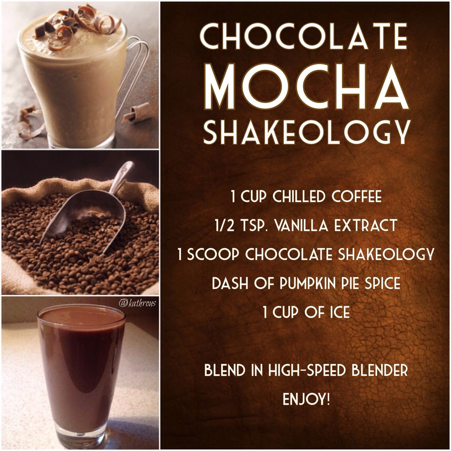 Shakeology Vegan Chocolate Recipes  Chocolate Mocha Shakeology
