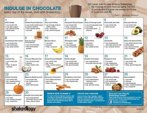 Shakeology Vegan Chocolate Recipes  Vegan Chocolate Shakeology Review