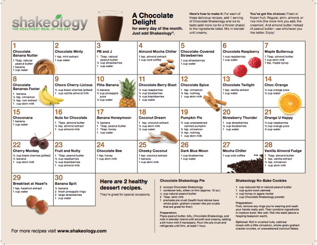Shakeology Vegan Chocolate Recipes  Shakeology Recipes teamRIPPED