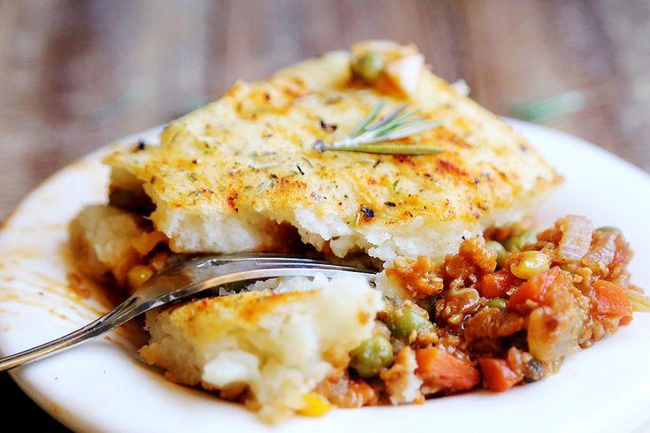Shepards Pie Vegetarian  Ve arian Shepherd s Pie Recipe — Dishmaps