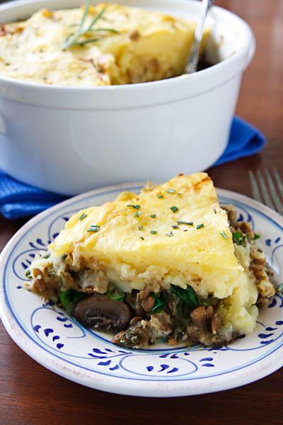 Shepards Pie Vegetarian  Vegan Shepherd s Pie with Lentils and Mushrooms