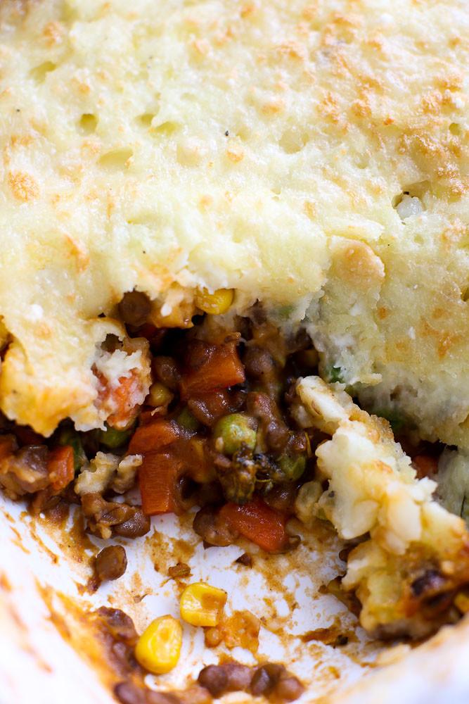 Shepards Pie Vegetarian  Ve arian Shepherd s Pie Recipe Happy Healthy Mama