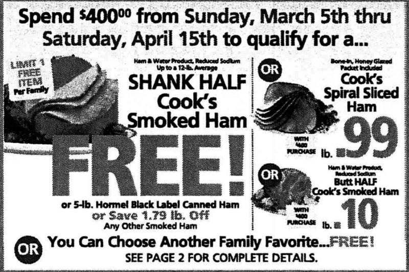 Shoprite Free Ham Easter 2019  FREE Holiday Dinner at ShopRite Earn a FREE Turkey Ham