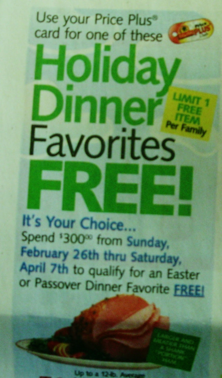 Shoprite Free Ham Easter  ShopRite Easter Passover Dinner Promotion