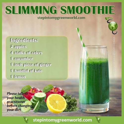 Simple Smoothie Recipes For Weight Loss  A super easy slimming kale smoothie Not only will it