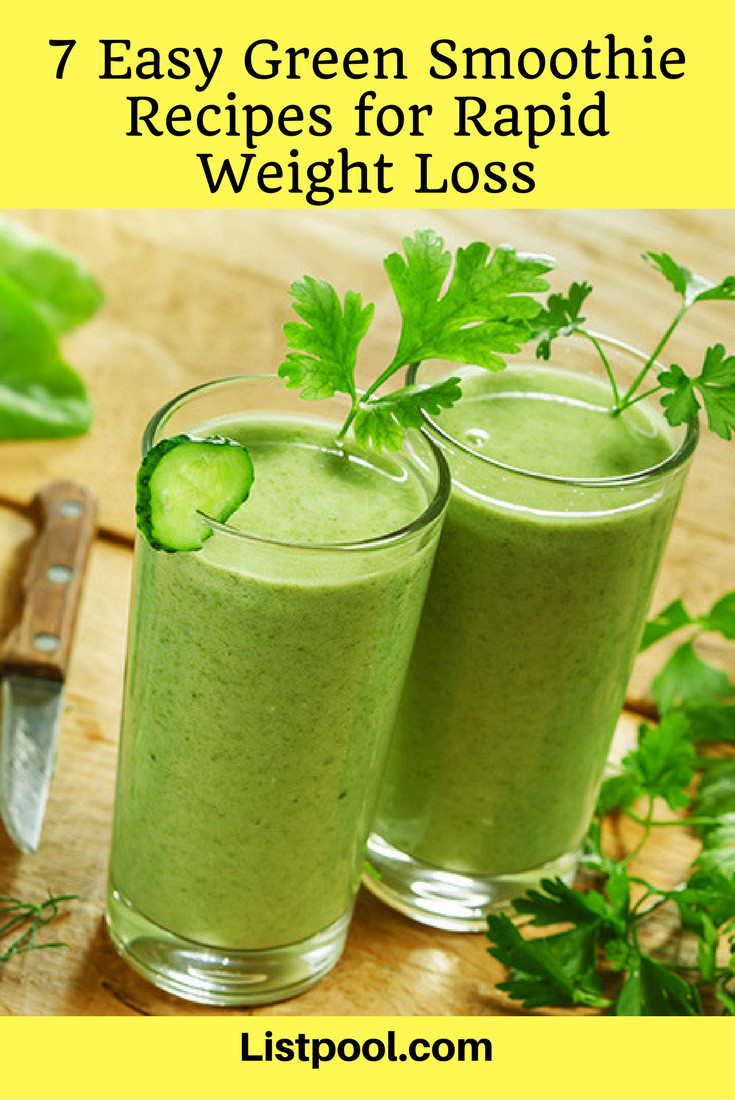 Simple Smoothie Recipes For Weight Loss  7 Easy Green Smoothie Recipes for Rapid Weight Loss