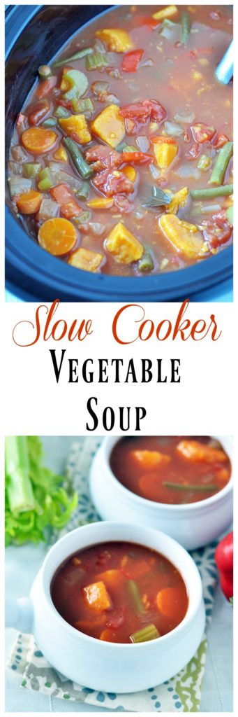 Slow Cooker Vegetarian Potato Soup  Chunky Ve able Soup My Whole Food Life