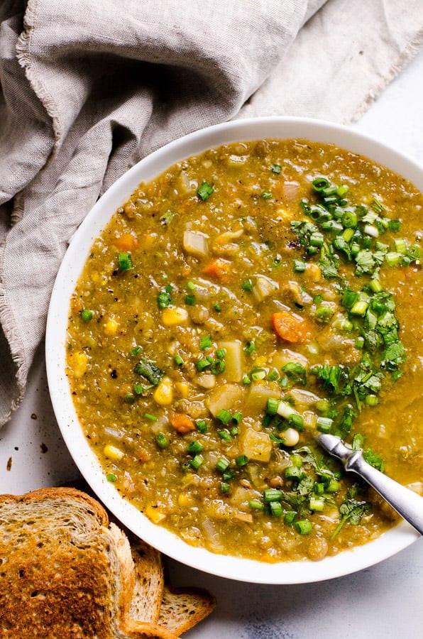 Slow Cooker Vegetarian Potato Soup  Slow Cooker Ve arian Lentil Soup iFOODreal